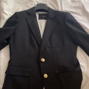 Black jcrew blazer with gold buttons